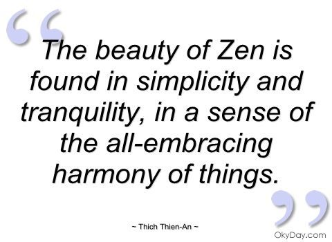 the beauty of zen